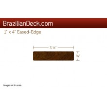 1 x 4 eased-edge ipe lumber