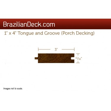 1 x 4 tongue and groove porch ipe lumber