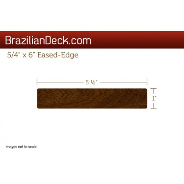 5/4 x 6 eased-edge ipe lumber