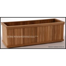 FSC Plantation Teak Planter Boxes 20-20-48 (Tectona Grandis) Trade name Burmese Teak. Janka 1070 Made in Costa Rica